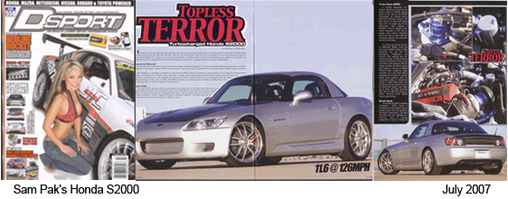 DSport Magazine Featured Car July 2007